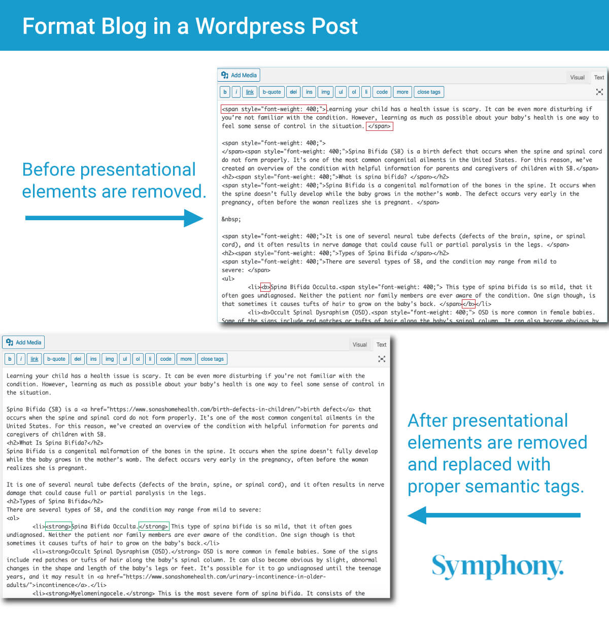 Format Blog in WordPress